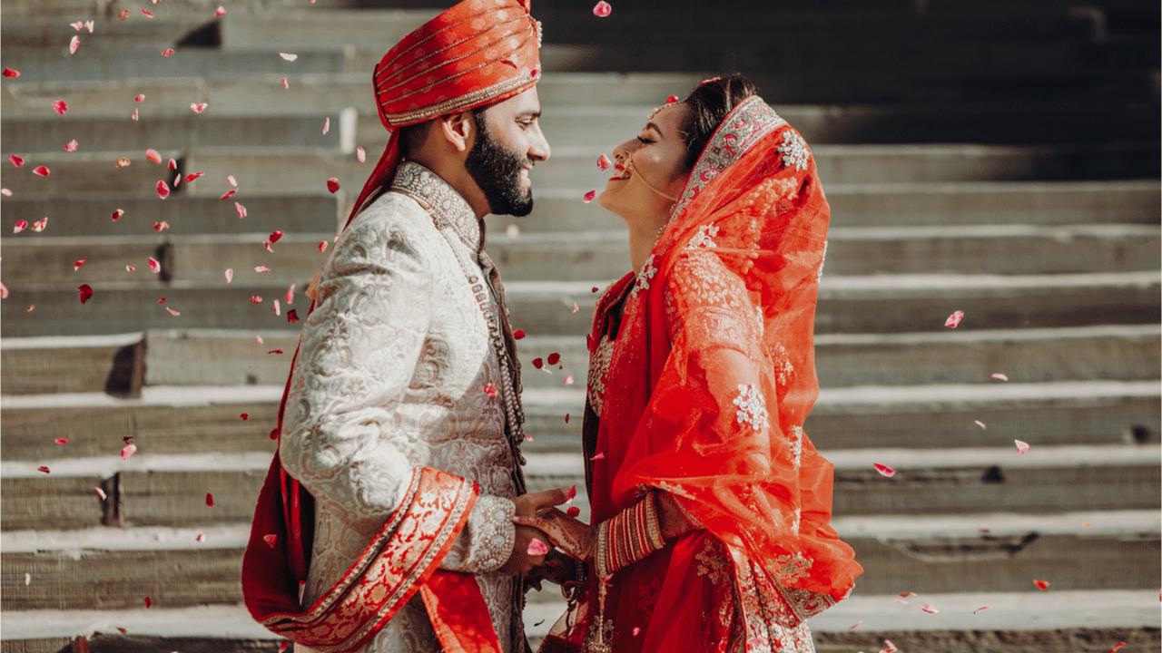 Hochzeitsbräuche in Indien.