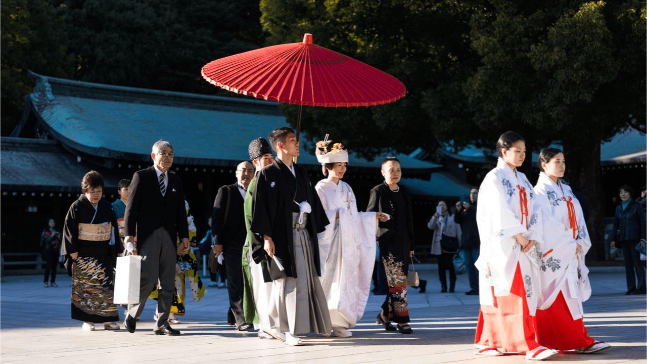 Hochzeitsbräuche in Japan.